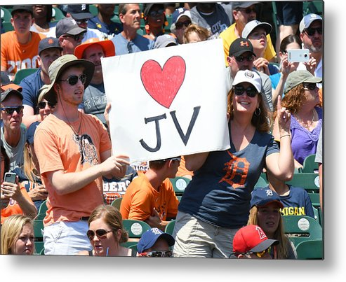 Crowd Metal Print featuring the photograph Houston Astros v Detroit Tigers by Mark Cunningham