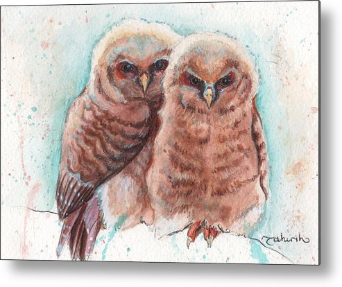 Wildlife Metal Print featuring the painting In Cahoots by Tahirih Goffic
