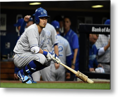 Only Japanese Metal Print featuring the photograph Kansas City Royals V San Diego Padres by Denis Poroy