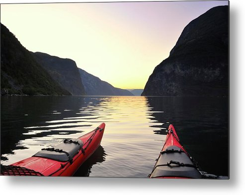 Scenics Metal Print featuring the photograph Kayak In Norway by Sjo