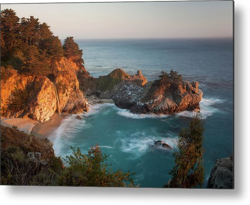 Scenics Metal Print featuring the photograph Mcway Falls At Sunset by Sean Duan