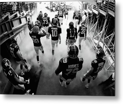 People Metal Print featuring the photograph New England Patriots V New York Giants by Al Bello