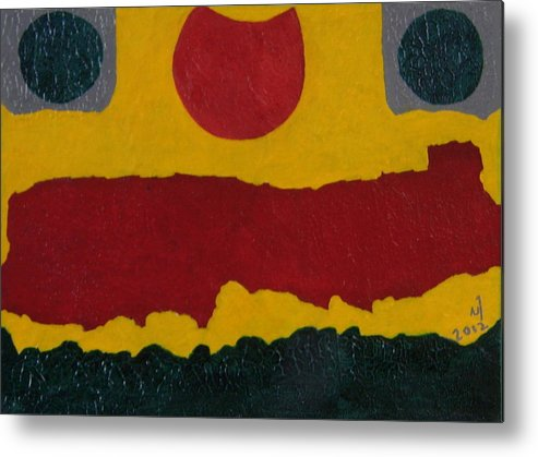 Abstract Metal Print featuring the painting No. 402 by Vijayan Kannampilly