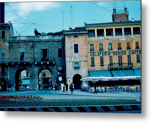 Vicenza Metal Print featuring the photograph Old City Gate Vicenza 2 1962 by Cumberland Warden