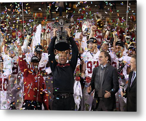 Celebration Metal Print featuring the photograph Pac 12 Championship - Stanford V by Christian Petersen