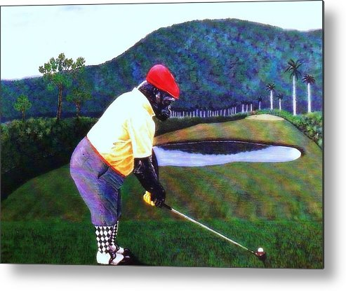 Golf Metal Print featuring the painting Par Four by George I Perez