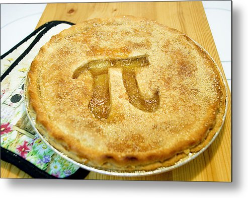 Wood Metal Print featuring the photograph 'Pi' Pie by Perry Gerenday