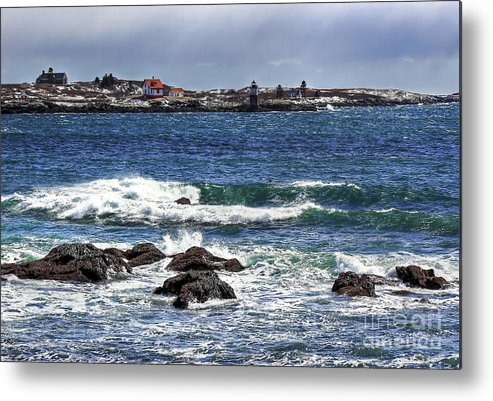 Maine Metal Print featuring the photograph Ram Island Lighthouse by Brenda Giasson