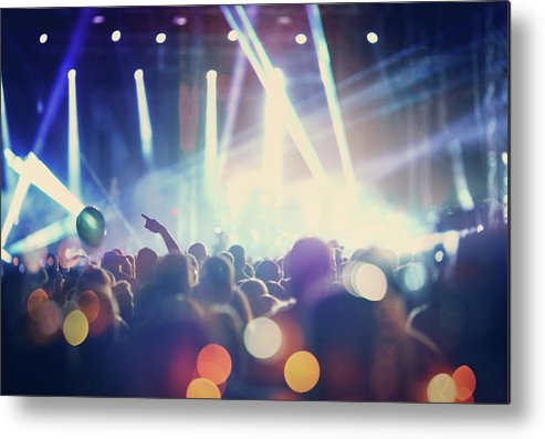 Event Metal Print featuring the photograph Rock Concert by Gilaxia