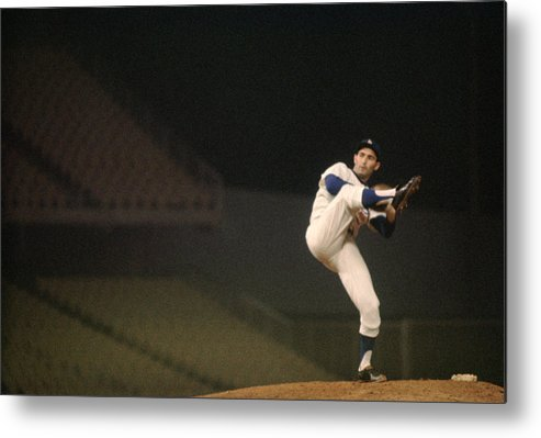 Classic Metal Print featuring the photograph Sandy Koufax High Kick by Retro Images Archive