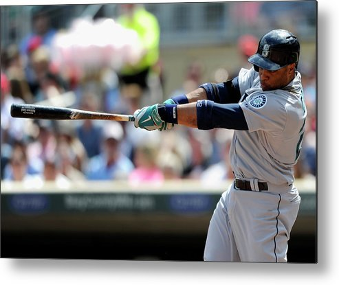 American League Baseball Metal Print featuring the photograph Seattle Mariners V Minnesota Twins by Hannah Foslien