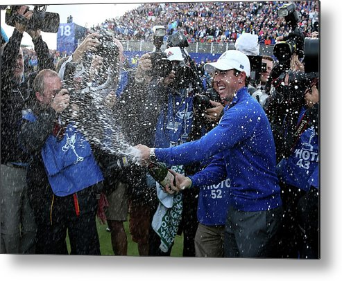 Gleneagles Hotel And Golf Course Metal Print featuring the photograph Singles Matches - 2014 Ryder Cup by Ross Kinnaird