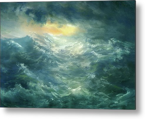 Scenics Metal Print featuring the digital art Storm Is Coming by Pobytov