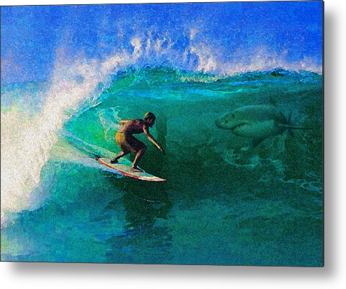 Hawaii Iphone Cases Metal Print featuring the photograph Surfs Up by James Temple