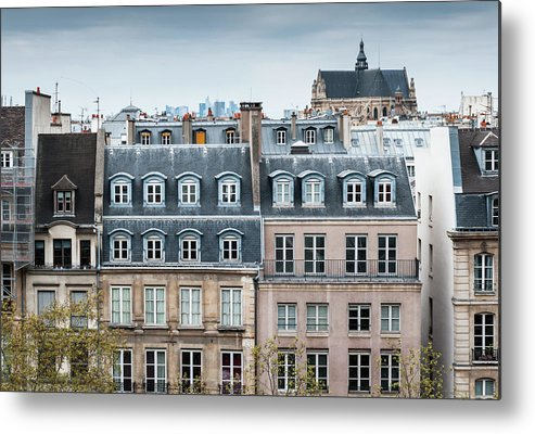 Built Structure Metal Print featuring the photograph Traditional Buildings In Paris by Mmac72