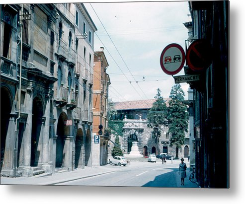 Vicenza Metal Print featuring the photograph Vicenza Italy 1962 by Cumberland Warden
