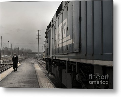 Train Metal Print featuring the photograph Waukugen Train Station by Glenda Wright