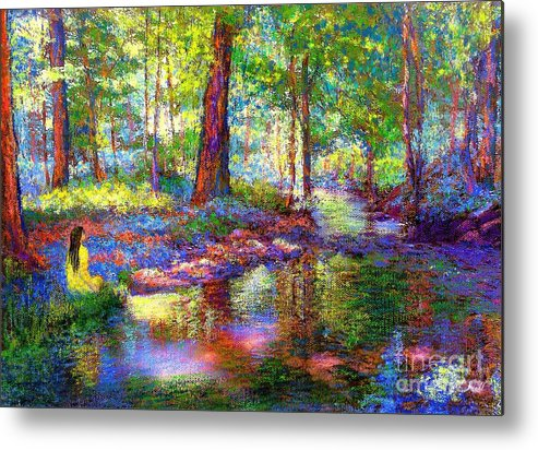 Floral Metal Print featuring the painting Woodland Rapture by Jane Small