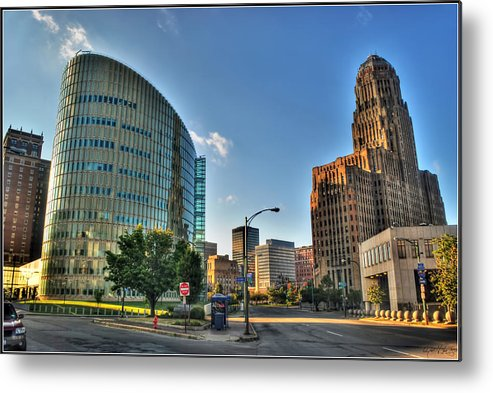 Metal Print featuring the photograph 010 Wakening Architectural Dynamics by Michael Frank Jr