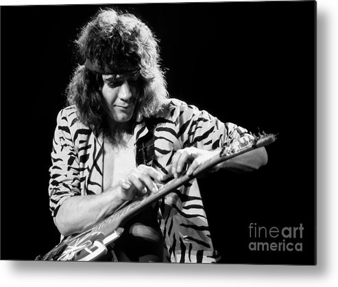 Van Halen Metal Print featuring the photograph Eddie Van Halen 1984 by Chris Walter