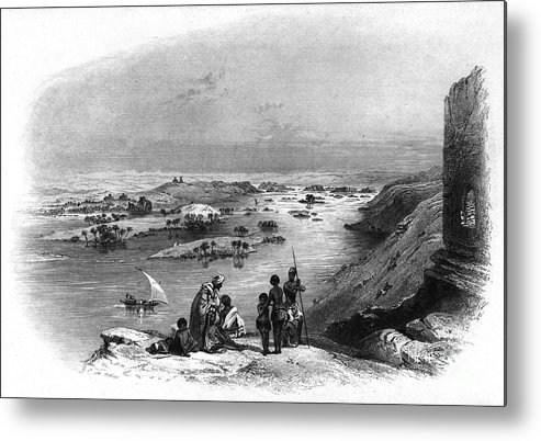 1849 Metal Print featuring the photograph Egypt: Nile Scene by Granger