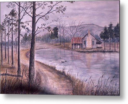Morning Metal Print featuring the painting South Carolina Morning by Ben Kiger