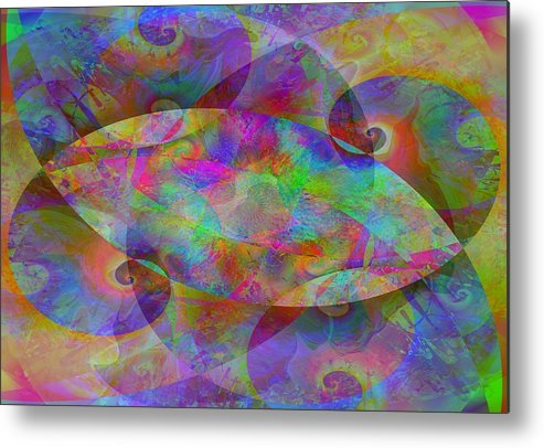 Collage Metal Print featuring the digital art 2012-10-26-10j by Peter Shor