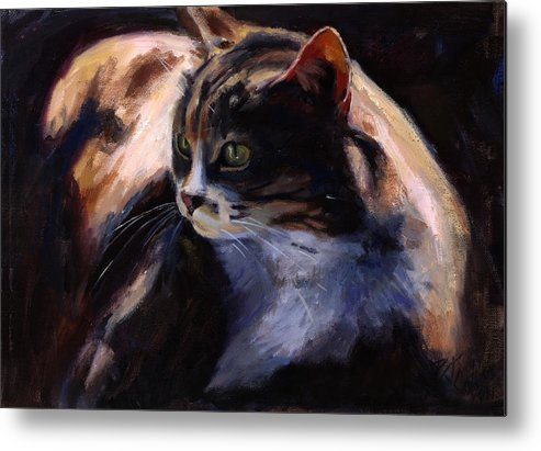 Cats Metal Print featuring the painting A Cat's Life by Billie Colson