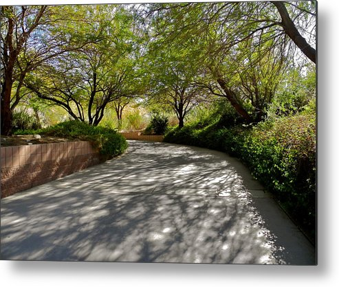 Palm Desert Metal Print featuring the photograph A Shadowed Drive in Palm Desert by Kirsten Giving