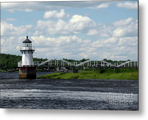Doubling Point Light Metal Print featuring the photograph Lace Lighthouse by Brenda Giasson