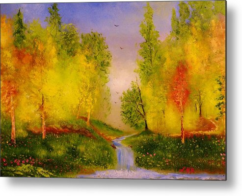 Nature Metal Print featuring the painting So Nice by Lorenzo Roberts