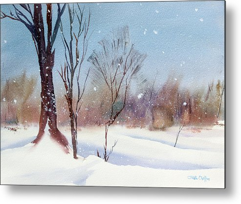 Winter Landscape Metal Print featuring the painting Today's Blanket. by Josh Chilton