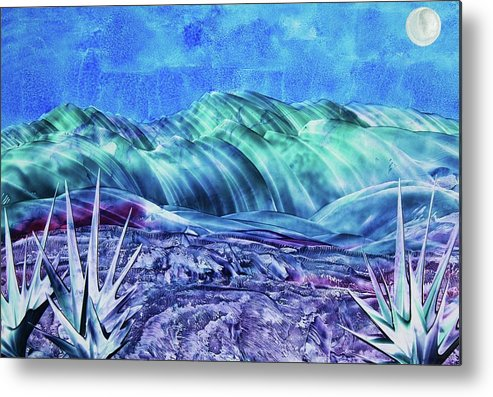 Encaustic Metal Print featuring the painting Gallup by Melinda Etzold