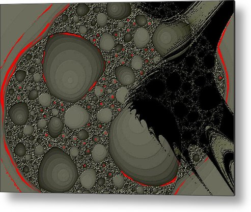Fractals Embers Fire Cells Stones Rocks Metal Print featuring the digital art Untitled 1 by Veronica Jackson