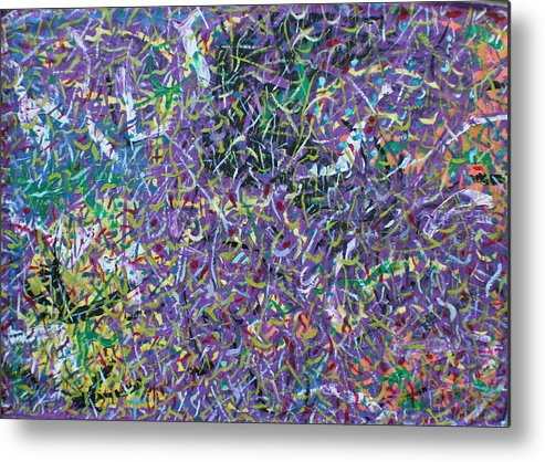 Color And Movement Metal Print featuring the painting Felice by Biagio Civale