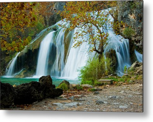 Waterfall Metal Print featuring the photograph Turner Falls by Iris Greenwell