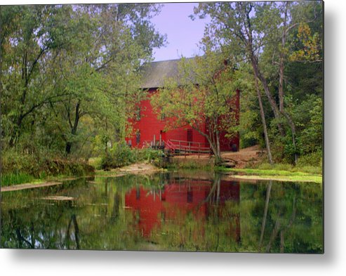 Alley Spring Metal Print featuring the photograph Allsy Sprng Mill 2 by Marty Koch