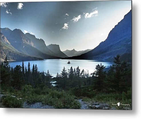 St. Mary Lake Metal Print featuring the photograph Alpine Dusk by Stephanie McGuire
