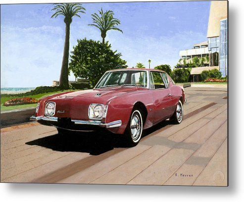 Cannes Metal Print featuring the painting An American In Cannes by Richard Herron