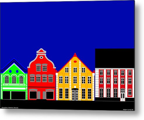 Atmosphere Metal Print featuring the digital art Atmosphere Haderslev Denmark by Asbjorn Lonvig