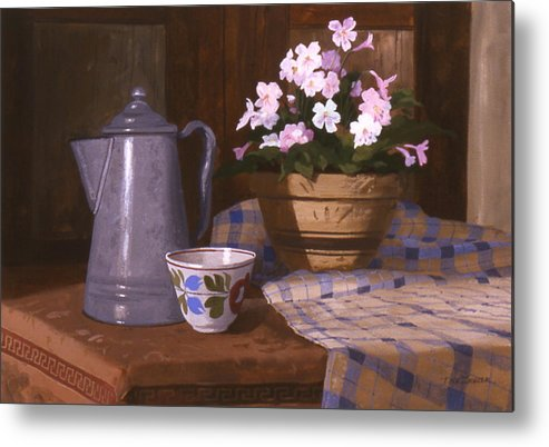 Antiques Metal Print featuring the painting Attic Treasures by Faye Ziegler