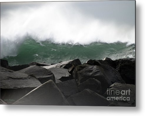 Northwest Metal Print featuring the photograph Big Wave by Larry Keahey