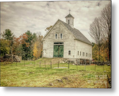 Old Barns Metal Print featuring the photograph Big White Barn by Diana Nault