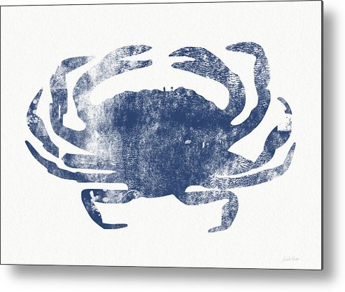 Cape Cod Metal Print featuring the painting Blue Crab- Art by Linda Woods by Linda Woods