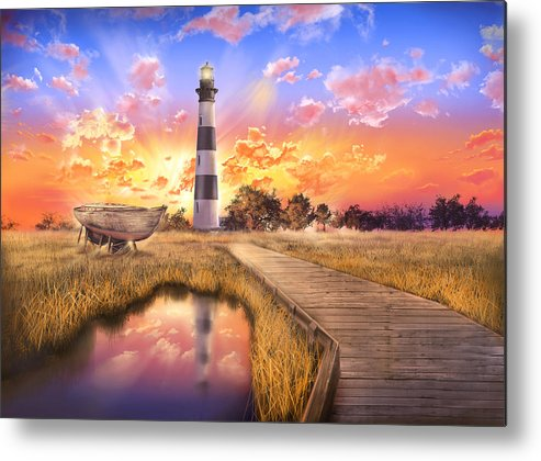 Lighthouse Metal Print featuring the photograph Bodie Island Lighthouse by Bekim M