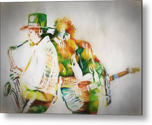 Bruce And The Big Man Metal Print featuring the painting Bruce And The Big Man by Dan Sproul