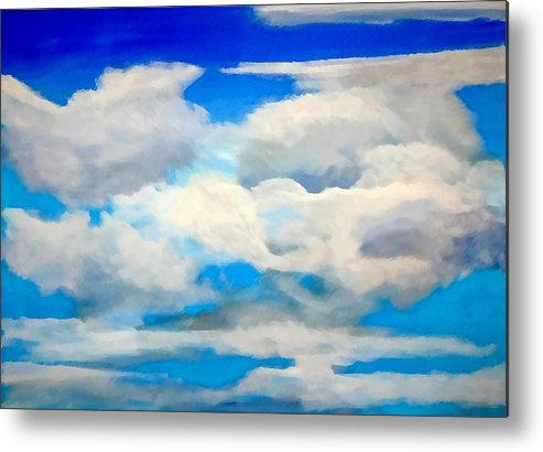 En Plein Air Metal Print featuring the painting Cloud Study by Donna Proctor