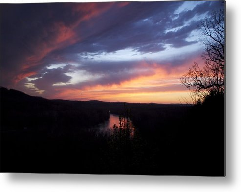 Blue Sunset Metal Print featuring the photograph Colorful Sunset by Toni Berry