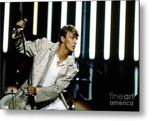 David Bowie Metal Print featuring the photograph David Bowie Action Man by Sue Halstenberg