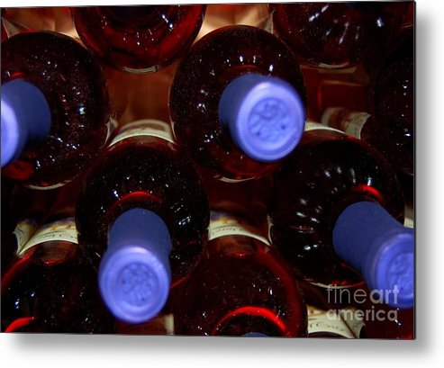 Wine Metal Print featuring the photograph De-Vine Wine by Debbi Granruth
